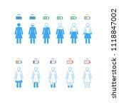 set percentage person pictogram ... | Shutterstock .eps vector #1118847002