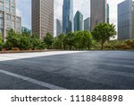 empty road with modern business ... | Shutterstock . vector #1118848898