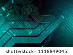 colorful microscheme design.... | Shutterstock .eps vector #1118849045