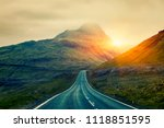 a long straight country road ... | Shutterstock . vector #1118851595
