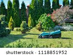 gardening concept. lawn mower... | Shutterstock . vector #1118851952