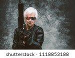 grandmother portraits on... | Shutterstock . vector #1118853188