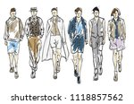 fashion man. set of fashionable ... | Shutterstock . vector #1118857562