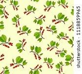 chinese magnolia vine... | Shutterstock .eps vector #1118859965