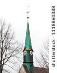 copper sheathed steeple with...