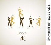 illustration of couples dance... | Shutterstock .eps vector #111887216