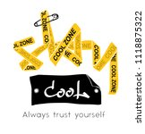 yellow ribbon forming stay cool ... | Shutterstock .eps vector #1118875322