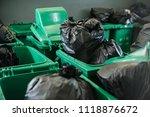 plastic trash in hospital... | Shutterstock . vector #1118876672