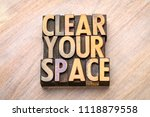 clear your space   word... | Shutterstock . vector #1118879558