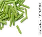 green beans isolated on white... | Shutterstock . vector #1118879705