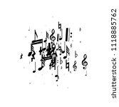 musical notes on white... | Shutterstock .eps vector #1118885762