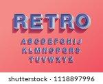 retro vintage 3 dimension 3d...   Shutterstock .eps vector #1118897996