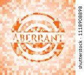 aberrant orange mosaic emblem...   Shutterstock .eps vector #1118908898