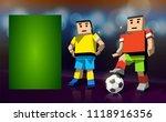 empty banner for football... | Shutterstock .eps vector #1118916356