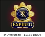 gold emblem or badge with... | Shutterstock .eps vector #1118918006