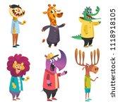 cartoon animals set. animal in... | Shutterstock .eps vector #1118918105