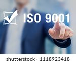 iso 9001 quality management...   Shutterstock . vector #1118923418