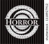 horror silver shiny badge | Shutterstock .eps vector #1118927912