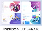 set of web page design... | Shutterstock .eps vector #1118937542