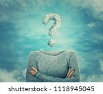 surreal image as woman with... | Shutterstock . vector #1118945045