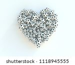 football love heart... | Shutterstock . vector #1118945555