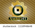 gold shiny emblem with... | Shutterstock .eps vector #1118948648