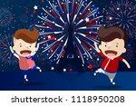 cartoon design for '14 juillet' ... | Shutterstock .eps vector #1118950208