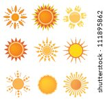 set of sun design elements | Shutterstock .eps vector #111895862
