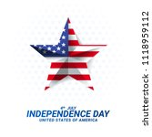 the star of america's... | Shutterstock .eps vector #1118959112
