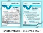 business flyer template in... | Shutterstock .eps vector #1118961452