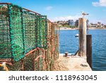 rusty fishing traps  made of... | Shutterstock . vector #1118963045