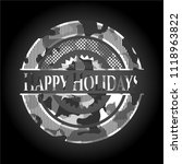 happy holidays written on a... | Shutterstock .eps vector #1118963822