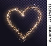 heart signs of gold sparkles on ... | Shutterstock .eps vector #1118965058