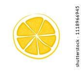 fruit slice lemon  vector  | Shutterstock .eps vector #1118966945