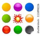 starburst seals   Shutterstock .eps vector #111898226