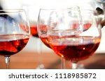 glasses of wine | Shutterstock . vector #1118985872