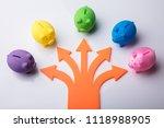 various arrow symbols showing...   Shutterstock . vector #1118988905