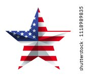 usa flag inside the star | Shutterstock .eps vector #1118989835