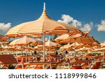 wind on orange stripes... | Shutterstock . vector #1118999846