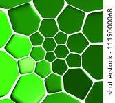 green pattern 3d illustration | Shutterstock . vector #1119000068