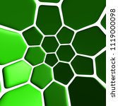 green pattern 3d illustration | Shutterstock . vector #1119000098