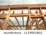 wooden construction of an... | Shutterstock . vector #1119001802
