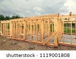 wooden construction of an... | Shutterstock . vector #1119001808