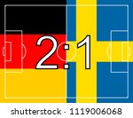 flag of germany and sweden with ... | Shutterstock .eps vector #1119006068