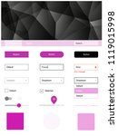 light pink vector ui ux kit in...