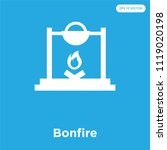 bonfire vector icon isolated on ... | Shutterstock .eps vector #1119020198
