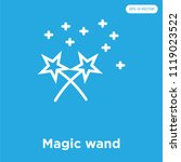 magic wand vector icon isolated ... | Shutterstock .eps vector #1119023522