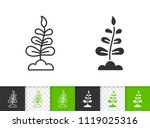 sprout black linear and...   Shutterstock .eps vector #1119025316