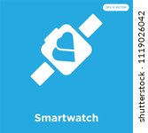 smartwatch vector icon isolated ... | Shutterstock .eps vector #1119026042