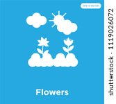 flowers vector icon isolated on ...   Shutterstock .eps vector #1119026072